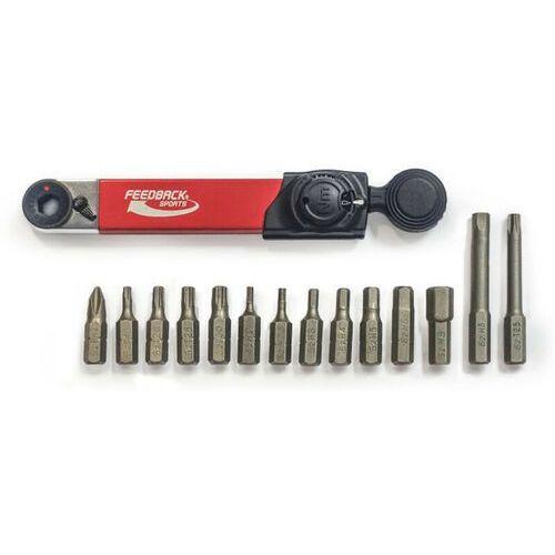 Feedback sports klucz dynamometryczny 2-10nm z zestawem 14 bitów, czarny/czerwony 2021 narzędzia