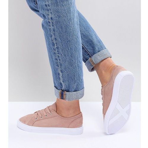design daisy wide fit trainers - beige marki Asos