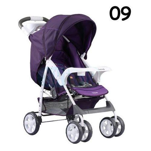 Adamex, Quatro Imola, wózek spacerowy, fioletowy z kategorii Wózki spacerowe