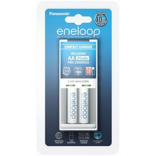 Ładowarka Panasonic Eneloop BQ-CC50 + 2 x R6/AA Eneloop 2000mAh BK-3MCCE ()