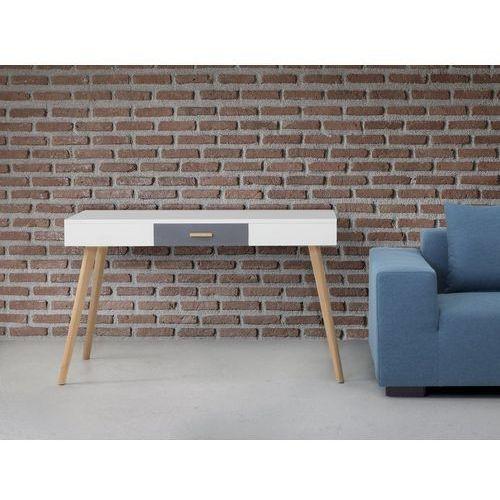 Beliani Biurko białe - meble biurowe - stolik - biurko komputerowe - rush