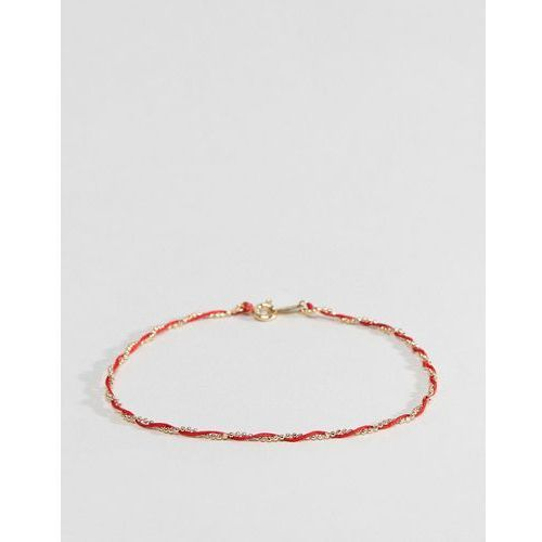 DesignB Sterling Silver Gold Plated Silk Twist Bracelet - Gold