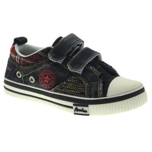 American club Trampki dziecięce ca336-a15100a - czarny ||jeans