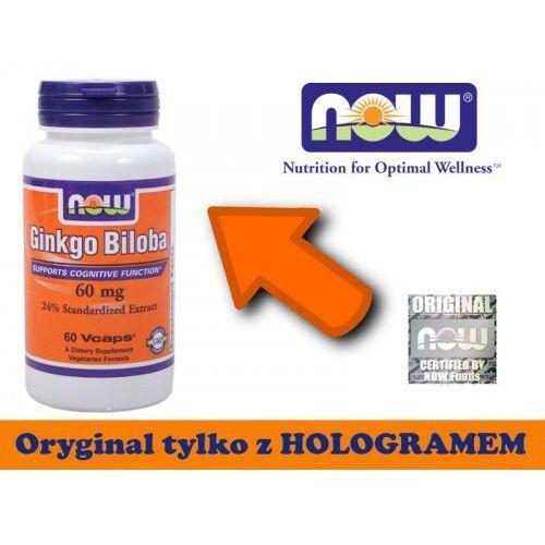Ginko biloba (miłorząb) ekstrakt 60 mg (60 kapsułek) - produkt farmaceutyczny