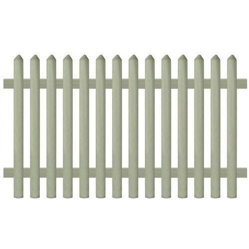 Vidaxl panel ogrodzeniowy, impregnowana sosna, 170x100 cm, 5/7 cm (8718475559610)
