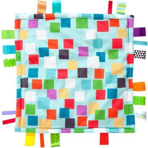 kocyk przytulanka little taggies kwadraty 30x30cm (0m+) wyprodukowany przez Bright starts