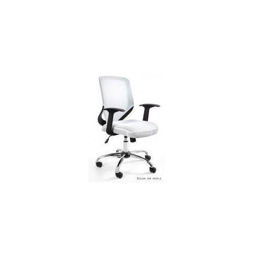 Krzesło biurowe Mobi białe, kolor biały