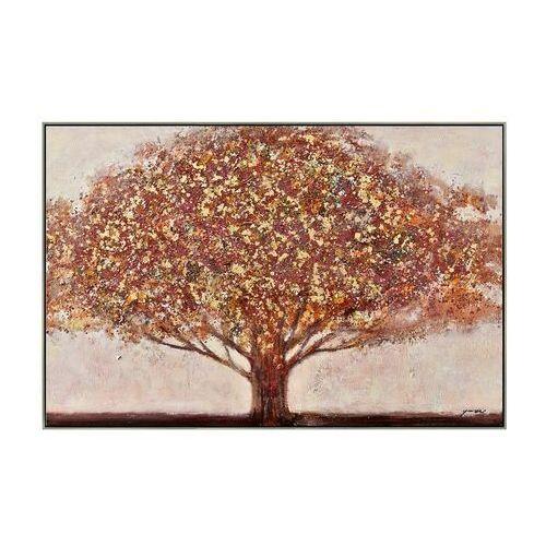 Vente-unique Obraz olejny autumn ręcznie malowany, w wiejskim stylu – 70 × 140 cm – kolor pomarańczowy