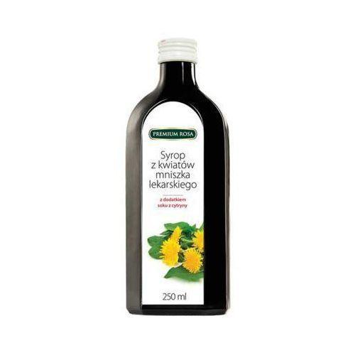 Premium rosa  250ml syrop z kwiatów mniszka lekarskiego z dodatkiem soku z cytryny