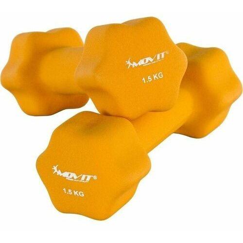 Movit® zestaw 2x hantle neoprenowe 1,5 kg ciężarki - 2x 1,5kg pomarańczowy marki Movit ®