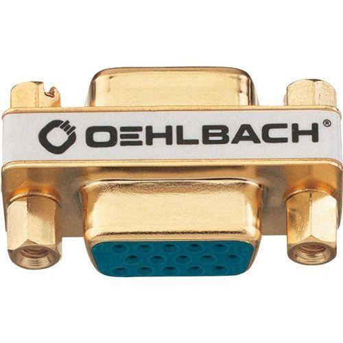 Przejściówka, adapter VGA Oehlbach 8627, [1x Złącze żeńskie VGA - 1x Złącze żeńskie VGA ], Pozłacane wtyczki, kup u jednego z partnerów