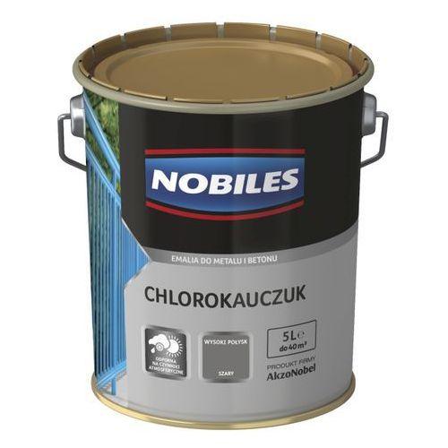 Emalia chlorokauczukowa Nobiles do metalu i betonu szara 5 l, kolor szary