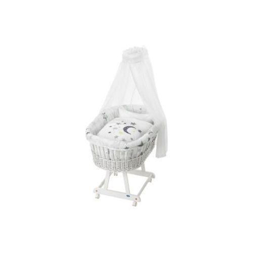 ALVI Kosz wiklinowy Birthe kolor biały + komplet pościeli 786-9 Silver Star