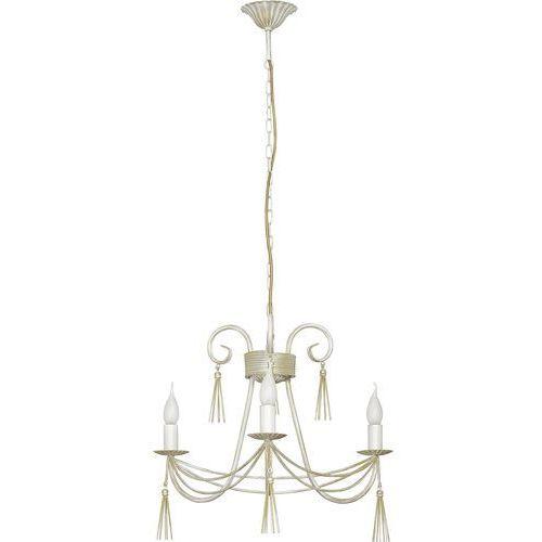 Lampa wisząca Nowodvorski Twist 4983 świecznikowa zwis żyrandol oprawa 3x40W E14 biały (5903139498395)
