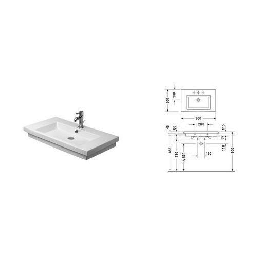 Duravit 2nd floor 80 x 50 (0491800027)