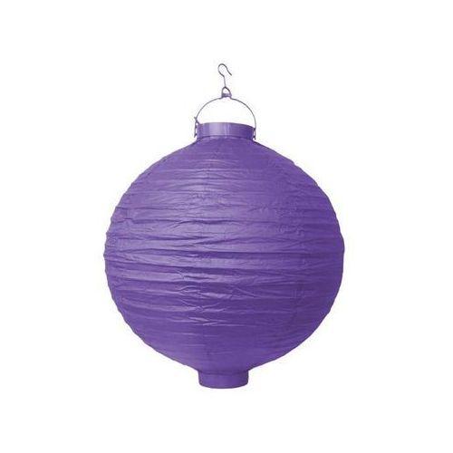 Świecący ogrodowy lampion papierowy 30 cm, fioletowe, 1 szt. (5902230704596)