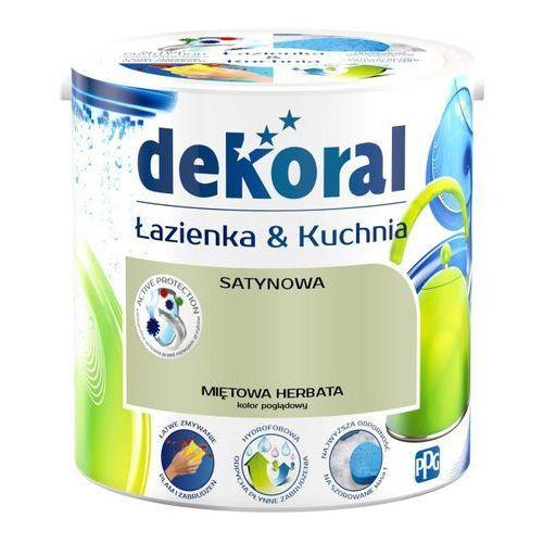 Dekoral Farba satynowa łazienka i kuchnia miętowa herbata 2,5 l