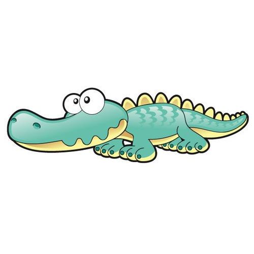 Szabloneria Krokodyl - drukowana naklejka wycięta po obrysie