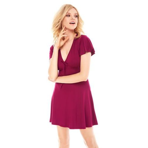 Sukienka Nika w kolorze burgundowym, kolor czerwony