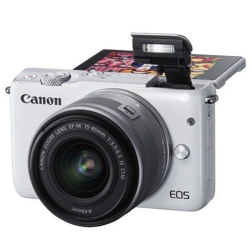 Canon Aparat eos m100 biały + obiektyw ef-m 15-45mm is stm + zamów z dostawą jutro! + darmowy transport! (8714574654546)