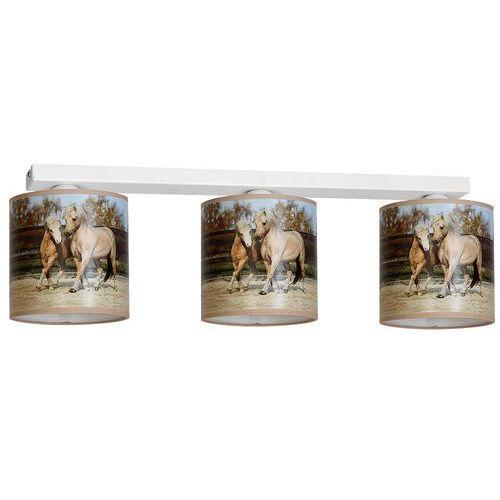 Eko-light 847 lampa sufitowa potrójna horses konie