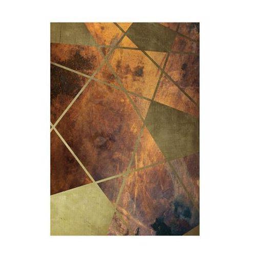 Art canvas Kanwa geometria złoto 70 x 100 cm (5901844237490)