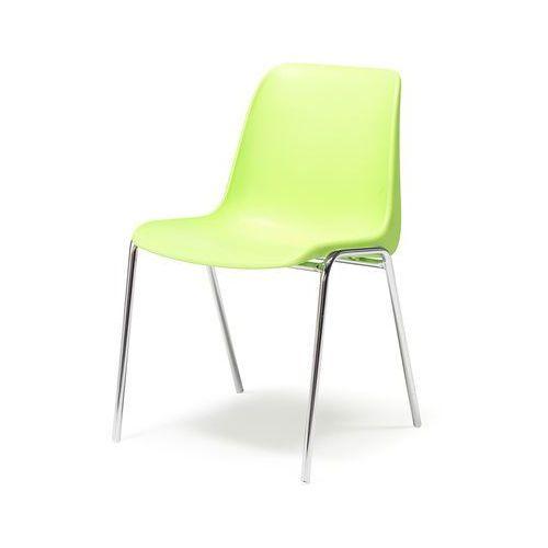 Krzesło SIERRA, sztaplowane, limonkowy