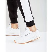 Reebok Classic Leather Trainers In White 49799 - White, kolor biały