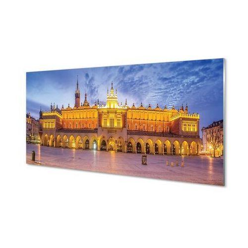 Obrazy na szkle Kraków Sukiennice zachód słońca