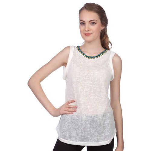 Brave Soul koszulka bez rękawów damska Agnes S kremowy (2007067650078)