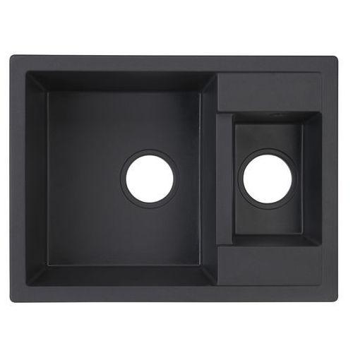 Zlewozmywak granitowy Cooke&Lewis Jayson 1,5-komorowy bez ociekacza czarny, ZYL_2503