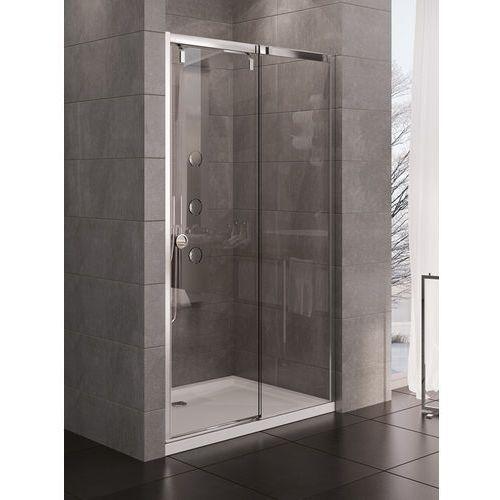 New trendy  porta drzwi prysznicowe 120x200 lewe, profile chrom, szkło czyste exk-1049 * wysyłka gratis