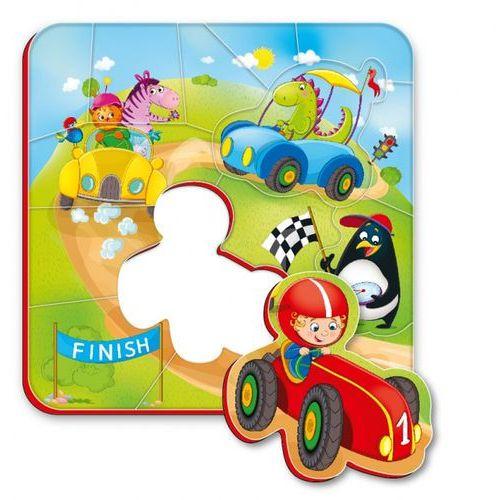 Magnesy piankowe puzzle Wyścigi, RK1304-04