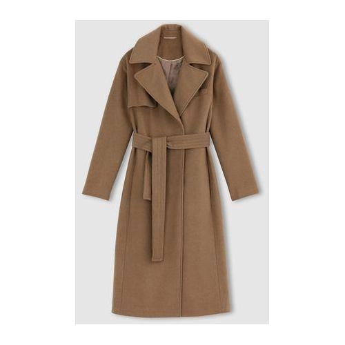 Długi płaszcz z sukna wełnianego marki La redoute collections