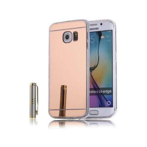 Slim mirror  case różowy | etui dla samsung galaxy s6 edge - różowy