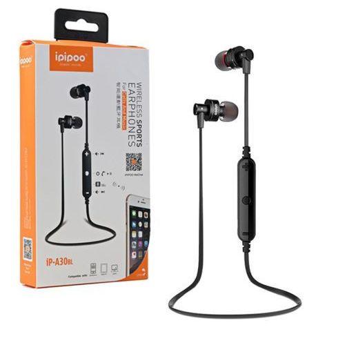 ipipoo iP-A30BL Czarne by AWEI douszne słuchawki bezprzewodowe Bluetooth 4.0