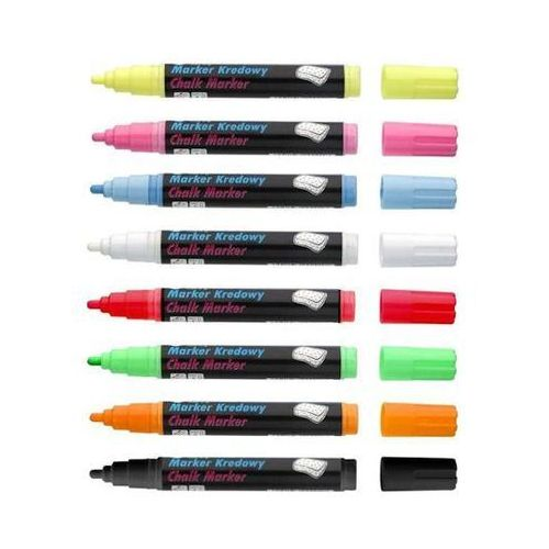 Markery do tablic i flipchartów Marker kredowy toma okrągły 4,45mm 8g różowy x1