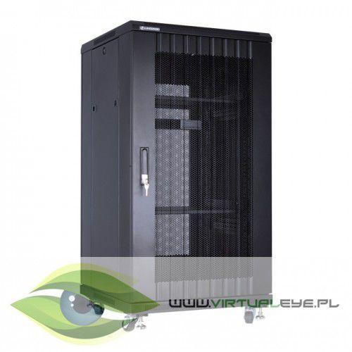 """Linkbasic Szafa stojąca rack 19"""" 22U 600x600mm czarna (drzwi perforowane, 2x wentylator, 2x półka, 1x listwa), 1_433974"""
