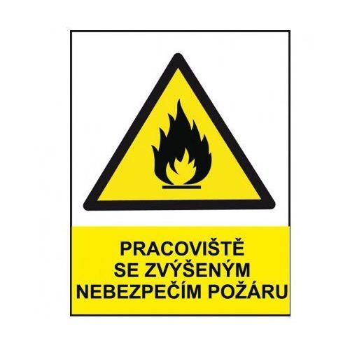 Miejsce pracy z podwyższonym ryzykiem pożaru z kategorii Znaki informacyjne i ostrzegawcze