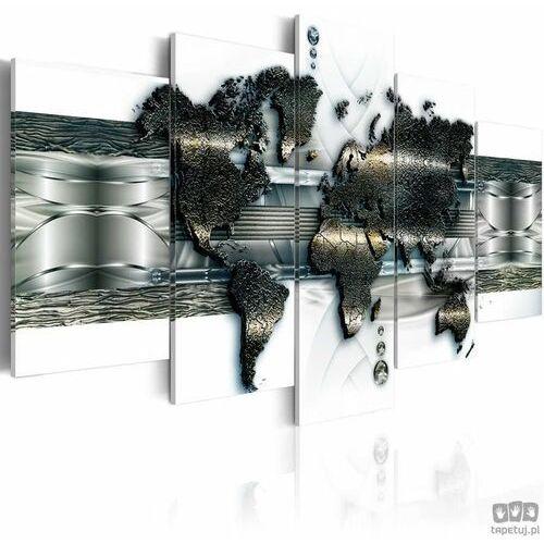Artgeist Obraz mapa metalowego świata