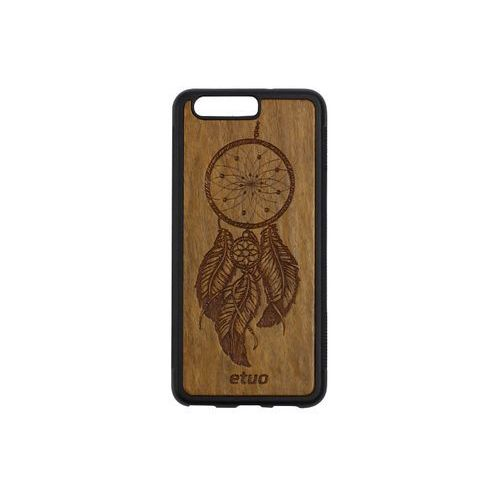 Huawei p10 - etui na telefon wood case - łapacz snów - imbuia marki Etuo wood case