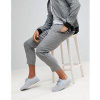 cropped joggers in grey marl - grey marki Boohooman