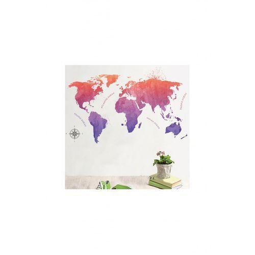 Naklejka na ścianę mapa świata 4Y34CH