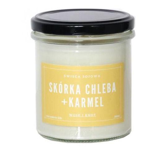 Świeca sojowa SKÓRKA CHLEBA + KARMEL - aromatyczna ręcznie robiona naturalna świeca zapachowa w słoiczku 300ml