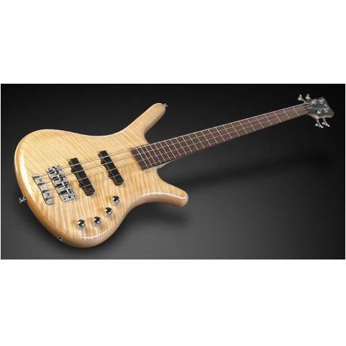RockBass Corvette Premium 4-String, Natural Transparent High Polish, Active, Fretted gitara basowa
