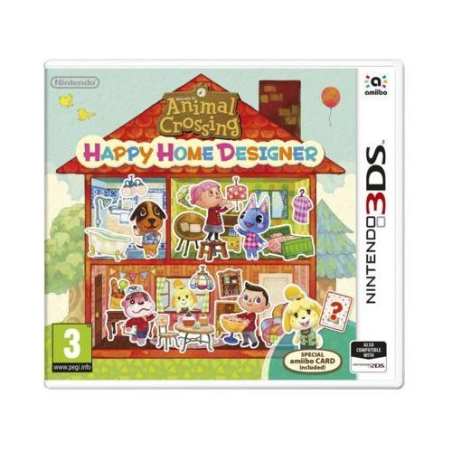 Nintendo Gra 3ds animal crossing: happy home designer + karta amiibo (0045496528140)