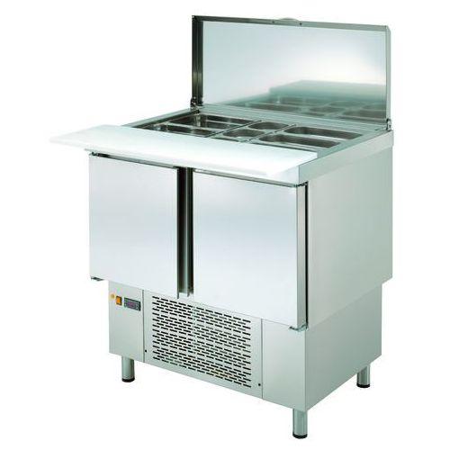 Stół chłodniczy sałatkowy z pokrywą, 2-drzwiowy, 200 l, 906x700x894 mm | ASBER, ETS-100-D