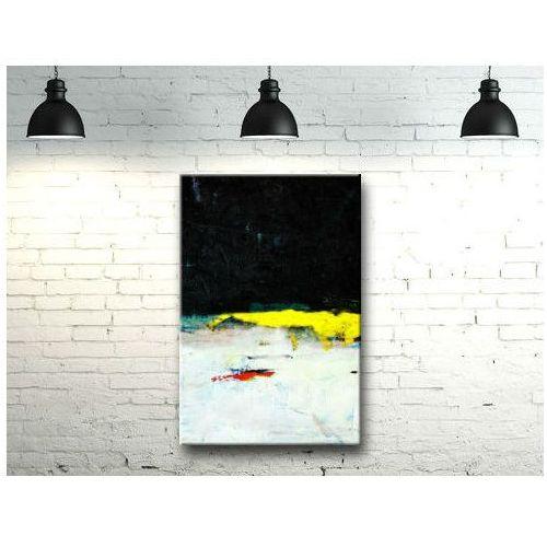 Żółty akcent - efektowny duży obraz nowoczesny 100x150cm