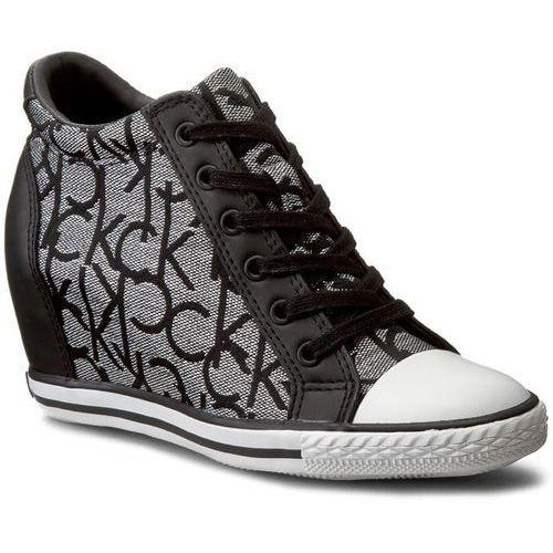 Sneakersy CALVIN KLEIN JEANS - Vero RE9643 Silver/Bla, kolor szary
