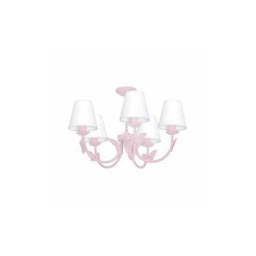 Milagro alice pink mlp964 lampa wisząca zwis 5x60w e14 różowa/biała (5902693746584)